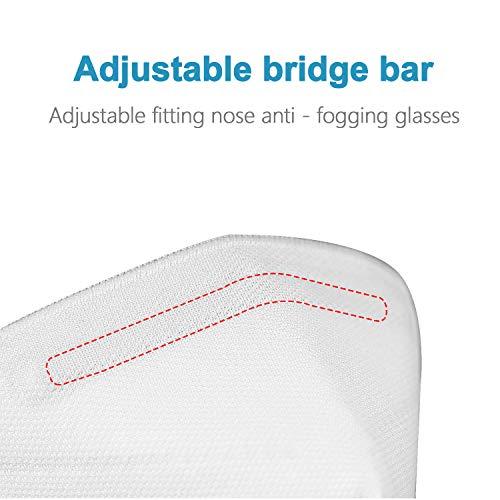 10 AOSANITY Masken FFP2 Mund Nase Schutzmaske Gesichtmaske Atemschutzmaske 5 Lagen Filtration Schutzmaske für Erwachsene - 7