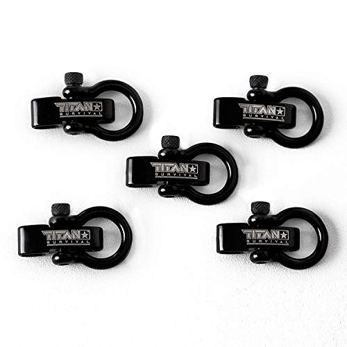 TITAN Survival Bow Shackles for Paracord Bracelets (5-Pack) | Premium Stainless Steel Metal Clasps...