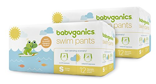 Swim Diapers, Size Small, Babyganics Baby Swim Pants, 24 count, Packaging May...