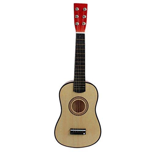 Naturra 23' Guitarra Guitarra Juguete Musical de ninos de Tilo Instrumento de Cuerdas acustica con plectro 1A Cuerda Color Natural