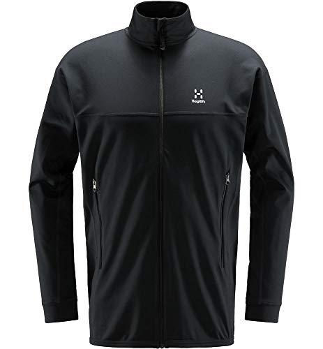 Haglöfs Fleecejacke Herren Fleecejacke Lithe Jacket Wärmend, Atmungsaktiv, Stretch Beweglich Small True Black M M Medium