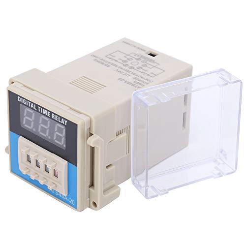 Modo de control flexible Pantalla digital LED Relé de tiempo Relé de tiempo de retardo de ciclo Rendimiento antiinterferente fuerte para ATS48A-20(DC24V)