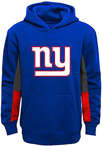 Outerstuff NFL Youth 8-20 Team Color Alternate Fleece Primary Logo Stated Pullover Sweatshirt Hoodie, Jungen, New York Giants Blue, 18-20