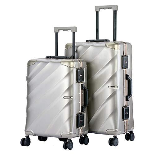 Equipaje de almacenamiento Impermeable 20in 24in Equipaje Juego de 2 piezas con TSA Lock Suitcase Spinner Hardshell Ligeros conjuntos encajados Maleta vertical para llevar 360 ° Silent Spinner