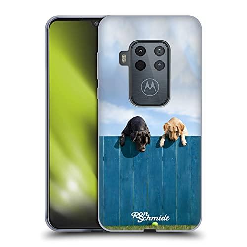 Head Case Designs Licenza Ufficiale Ron Schmidt Fuori dal Parco Cani Cover in Morbido Gel Compatibile con Motorola One Zoom