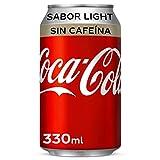 Coca-Cola Light Sin cafeína - Refresco de cola sin azúcar, sin calorías - lata 330 ml