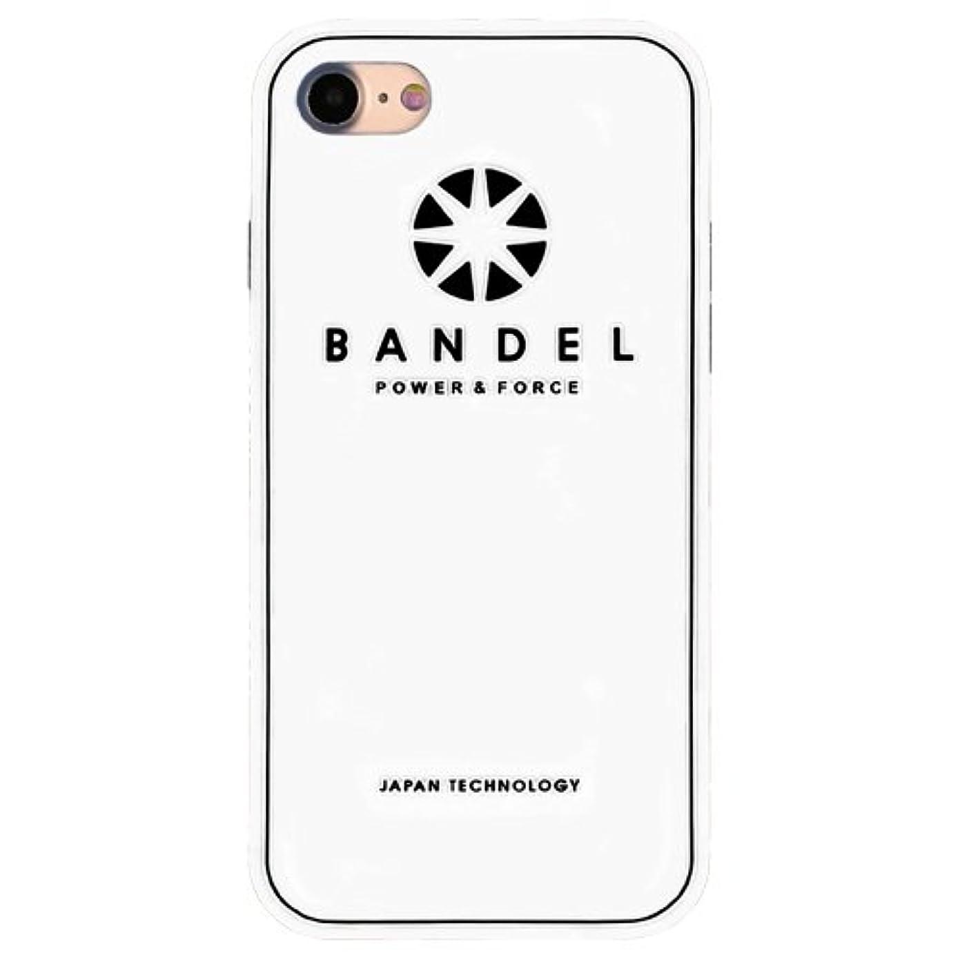 傾向王朝虚弱バンデル(BANDEL) ロゴ iPhone 8専用 シリコンケース [ホワイト×ブラック]
