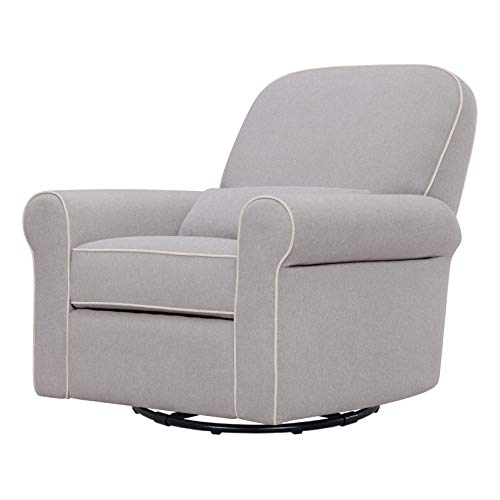 DaVinci Ruby Recliner and Swivel Glider in Gray and Cream, Greenguard Gold Certified