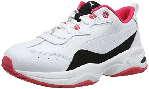 Puma Damen Cilia Lux Sneaker, White Black-NRGY Rose Silver 03, 39 EU
