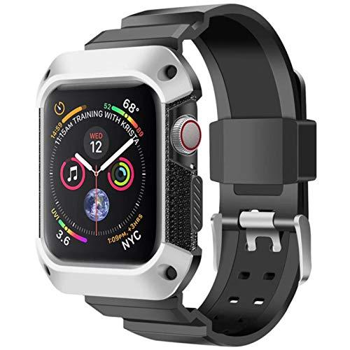 Correa deportiva para Apple Watch Band Case 44mm 40mm Iwatch 6 5 4 SE Funda protectora de TPU + Banda para Apple Watch Series 4 5 6 Pulsera