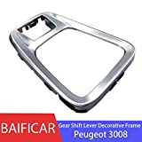 NO-LOGO SHIYM-BIAN, Baificar Levier de Vitesses Cadre décoratif Case électronique Frein à Main Bouton de Trim de Vitesse Panneau de frontière for Peugeot 3008