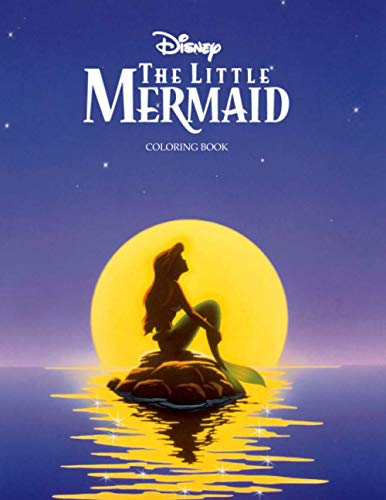 The Little Mermaid Coloring Book: 50+ Coloring Pages. Exclusive Artistic Illustrations for Fans of All Ages