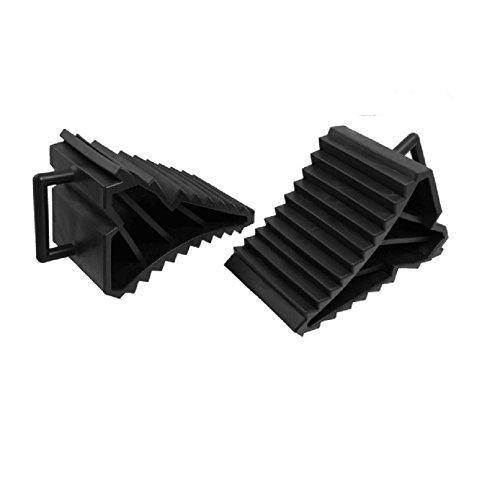 LANFIRE - Lot de 2 cales de roue antidérapantes - Noir