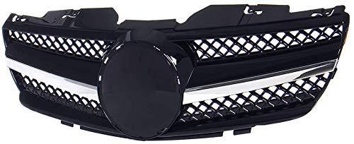 XBXDM Auto Front Kühlergrille, Für Mercedes-Benz Sl-Class R230 Sl500 2003-2006 Obere Stoßstange Radiator Grille Center Honeycomb Mesh Grid Grill Verkleidung, Car Styling Zubehör