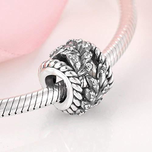 jiao 925 Sterling Silber Aushöhlen Baumseil Perlen Fit Original Armband für Frauen DIY Schmuckherstellung