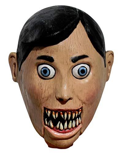 Horror-Shop Böse Bauchredner Puppe Maske als Halloween Maskierung