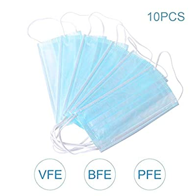 10pcs Face Mouth Cover Disposable Guard tool Surgical masque anti pollution 3 Layers for protection