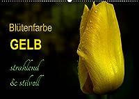 Bluetenfarbe GELB (Wandkalender 2022 DIN A2 quer): Leuchtende gelbe Blueten, die zum positiven Denken einladen. (Monatskalender, 14 Seiten )