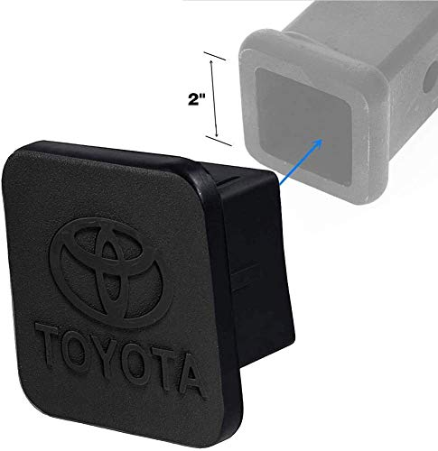 for 2 inches Trailer Hitch Cover Sturdy Rubber Receiver Tube Hitch Plug Tow Receiver Tube Plug Cap Fits to 2quot Tow Hitch Receiver Fits to 2quot T0Y0TA Hitch