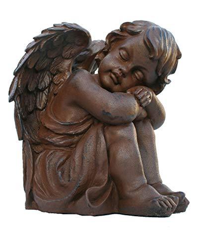 colourliving Dekofigur Engeljunge Rubiel Engel Dekoration Engelfigur rostoptik Gartendeko