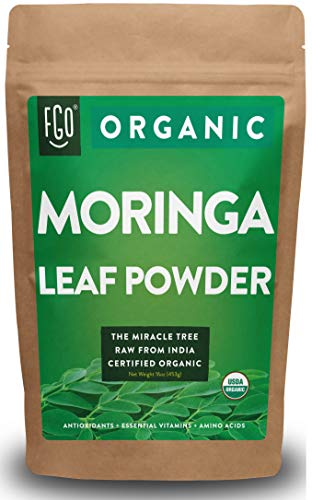 Organic Moringa Oleifera Leaf Powder | Perfect for Smoothies, Drinks, Tea & Recipes | 100% Raw From...