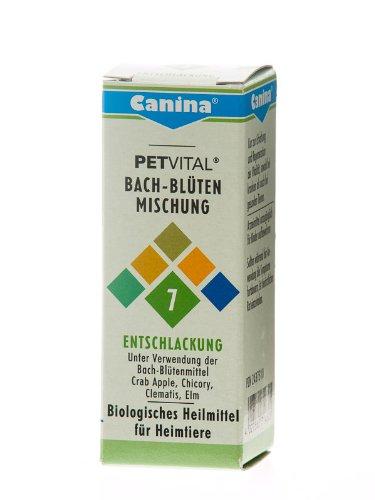 Canina 71460 5 Petvital Bachblüten Nr. 7 Entschlackung 10 g - für Tiere