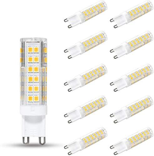 10er Pack G9 LED Lampen Kaltweiß 6000K, 7W 680 Lumen Ersatz für 60W 65W 70W Halogenlampen, CRI>82, 360° Abstrahlwinkel, Nicht Dimmbar, 220-240V AC