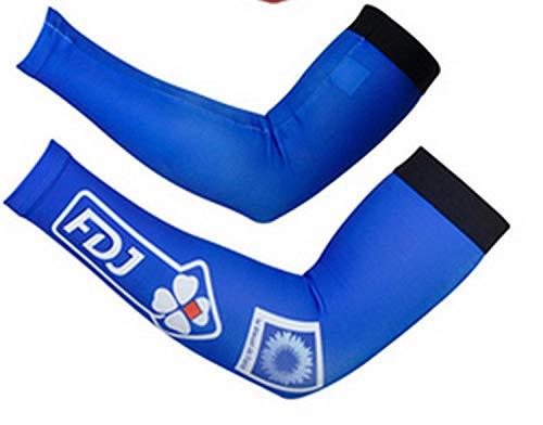Tfsg Scaldamuscoli per Braccia Manicotto Antiurto per proteggersi dal Sole con manichetta Antigas in Seta Ice @ 6 Quadrifoglio-XXL