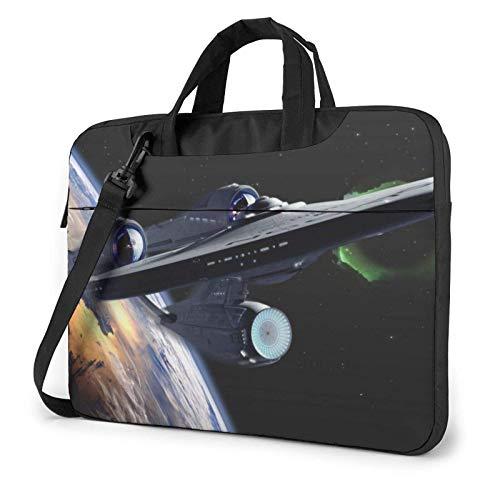 15.6 inch Housse Sacoche Ordinateur Portable Sacoche à Bandoulière d'affaires Messager Sac Star Trek