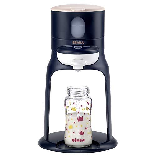 Béaba – Bib'expresso – Flaschenzubereiter für Babys und Kleinkinder – Schnelle Einhandbedienung – Einstellbare Temperatur – Einfach, intuitiv und kompakt – 830 g – mitternachtblau