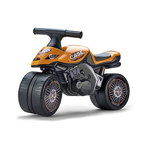 FALK - Moto draisienne Case CE - Dès 12 mois - Fabriqué en France - Roues extra larges - Développe l'équilibre et la motricité - 497CE