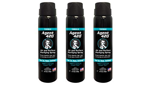 Agent 420 Air & Surface Freshening Spray - Erases Cigarette, Cigar & Most Foul Odors - Breaks Down Smoke Odor at The Molecular Level - Works in Cars & Homes - 3.5 oz Spray
