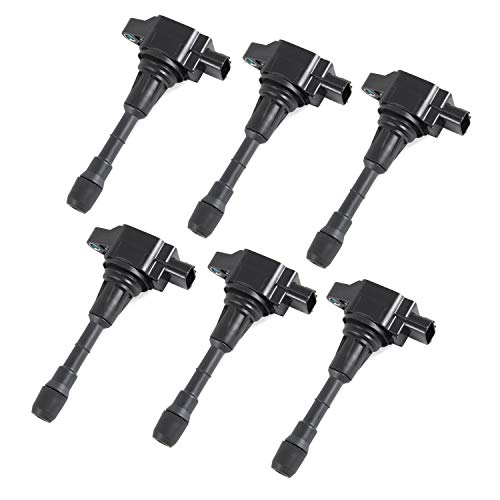 6Pcs Ignition Coil Packs Replacement Compatible With Nissan Altima Maxima Murano Pathfinder Quest 350Z Infiniti EX35 FX35 JX35 QX60 QX70 Replace Part Number C1670,610-50137,22448JA11C,UF-550