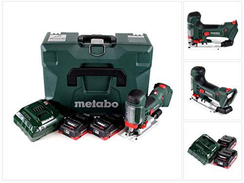 Metabo Akku-Stichsäge STA 18 LTX inkl. 2 x 18V/4,0 AH LiHD und Ladergerät ASC30-36V, im Koffer (601002840)