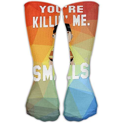 LAKILAN Röhrensocken,Freizeitsocken Design Funny Du Bringst Mich Um Kleine Mode Kunst Socken Für Frauen Mädchen