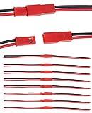 オーディオファン JST-RCY 2ピン プラグ コネクター ケーブル 10cm オス メス 各10点 セット