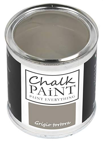 Everything CHALK PAINT Grigio Tortora 250 ml - SENZA CARTEGGIARE Colora Facilmente Tutti i Materiali
