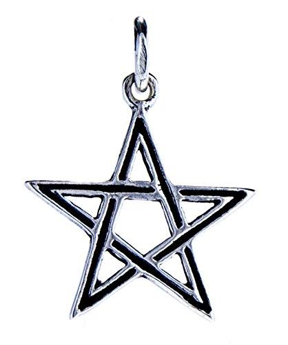 Kiss of Leather Kleiner Pentagramm Anhänger aus 925 Sterling Silber Nr.45