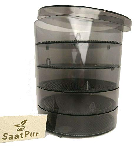 SaatPur Keimsprossenbox Set 4 mit Vier Etagen; Keimbox, Keimschale, Keimschachtel, Sprossenbox, Sprossenhaus, Keimgerät