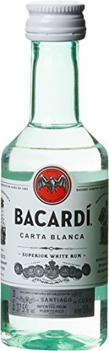 Bacardi Ron Carta Blanca Superior PET (1 x 0.05 l)