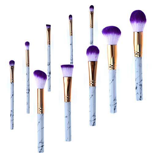 Pouybie Make Up Pinsel Set 10Stück Schminkpinsel Kosmetikpinsel Lidschatten Gesichtspinsel Eyeliner...