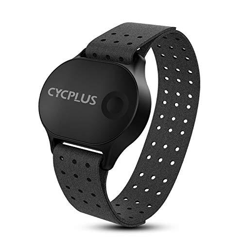 CYCPLUS Herzfrequenz-Gurt Wireless Herzfrequenzmesser, ANT+, Bluetooth, Nachfolgemodell Wasserdichter Herzfrequenz-Sensor mit Armgurt