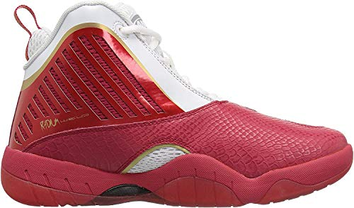 AND 1 Herren Tai Chi 3 Basketballschuh, (Weiß/Rot/Gold), 47 EU