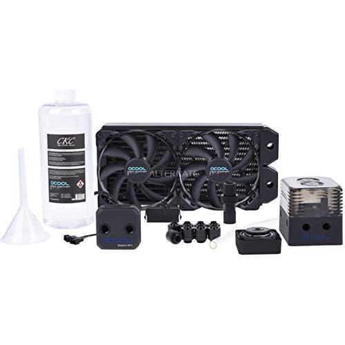 Alphacool Eissturm Hurricane Copper 45 2x140mm Wasserkühlung, schwarz