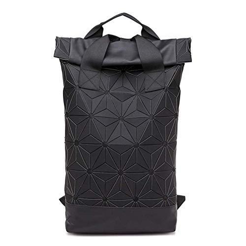 Hasun Geometrische Muster Rucksack Damen Mode Schlicht Schultasche Pu Leder Moderner Waterproof Laptoprucksack mit Griff Backpack Herren