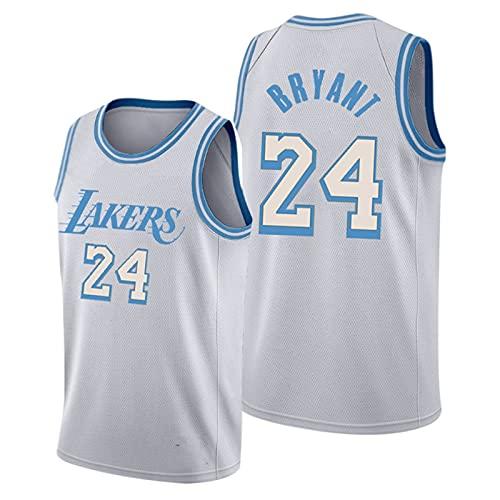DDSGG Uniformes de Baloncesto para Hombre, NBA 24# Kobe Bryant Lakers, Camisetas de Baloncesto Bordadas, Camisetas Sueltas y Transpirables, Chalecos Casuales, Camisetas Sin Mangas