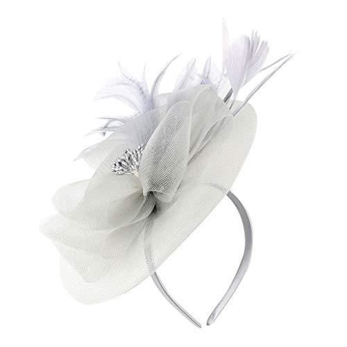 Morran Tocado de Flores y Plumas Fascinator de Sombrero, se Ajusta con