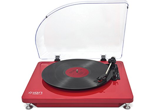 ION Audio Pure LP - Tocadiscos (2.0, DC, 12V, Rojo, USB