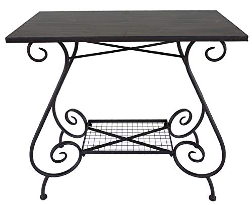 Nene-Home ILANDIA Tisch aus dunkelrostfarbenem Schmiedeeisen