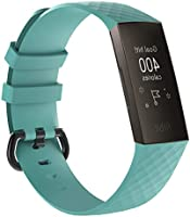 T Tersely Replacement Bands for Fitbit Charge 4 / Charge 3 SE Fitness Activity Tracker, Silicone Fitbit Charge 4/3/ SE...